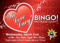 We Love Lucy Bingo