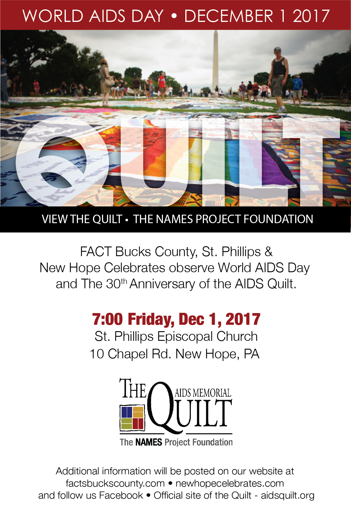 World AIDS Day Event – Fighting AIDS Continuously Together : world aids day quilt - Adamdwight.com
